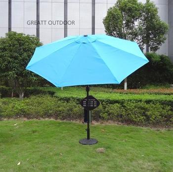 Bon Aluminum Patio Umbrella With Crank And Tilt Big Umbrella