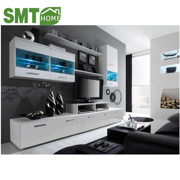 225New/luces LED/muebles de la sala/unidad de pared/tv stands