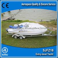 Sanj Best Price Fiberglass Wave Boat Combined Boat Jet Ski Powered ...