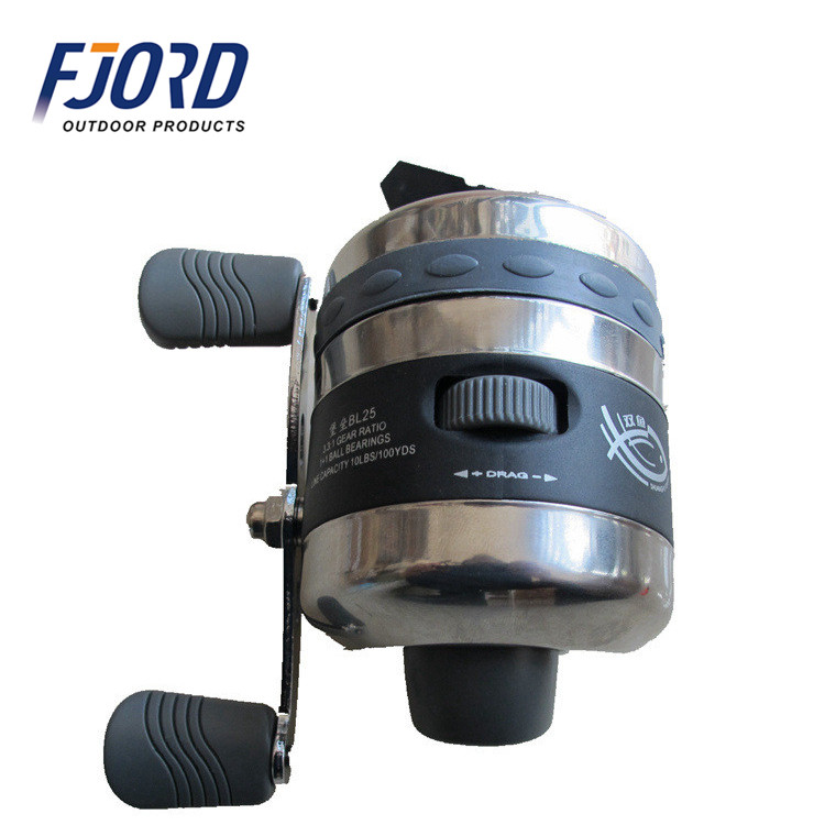 FJORD Great Low Price OEM Fishing Reel Company Inner Line Shooting Built-In Close Spin Cast Cross bow Casting Fishing Rod Reel