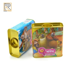Fruit-flavored candy tin box metal tin box candy rectangular candy tin box