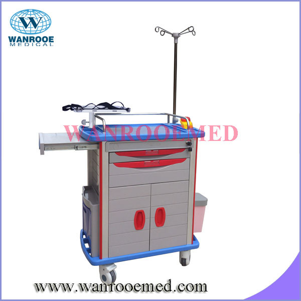 big drawer with side by side combination door RESUSCITATION TROLLEYS