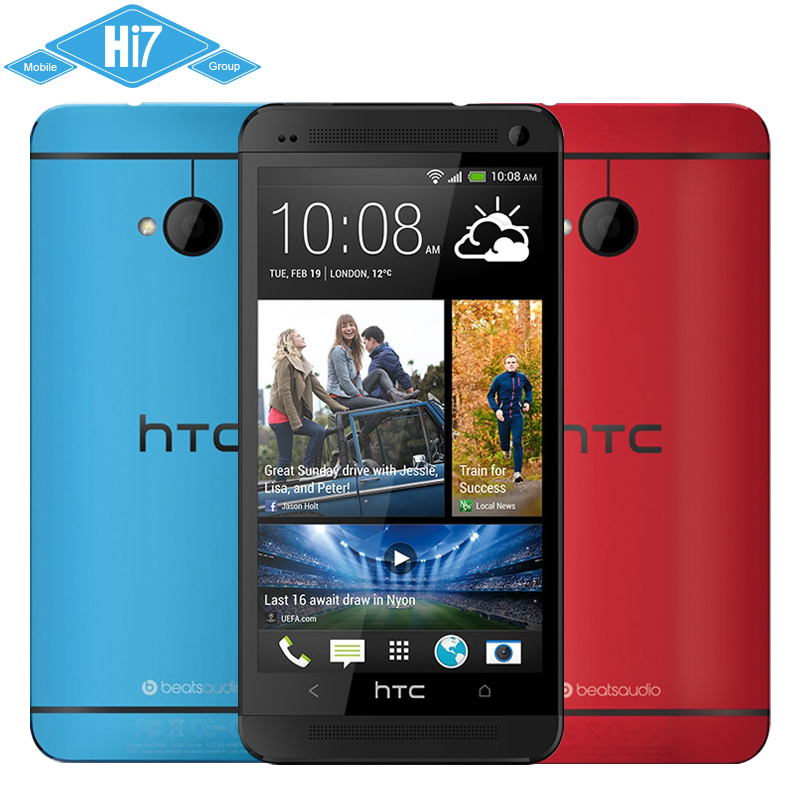"""Original HTC One M7 Phone Android 4 1 32GB Quad-Core 4mp 1 7GHz  4 7""""1920×1080 Super LCD 3 HD NFC Free shipping"""