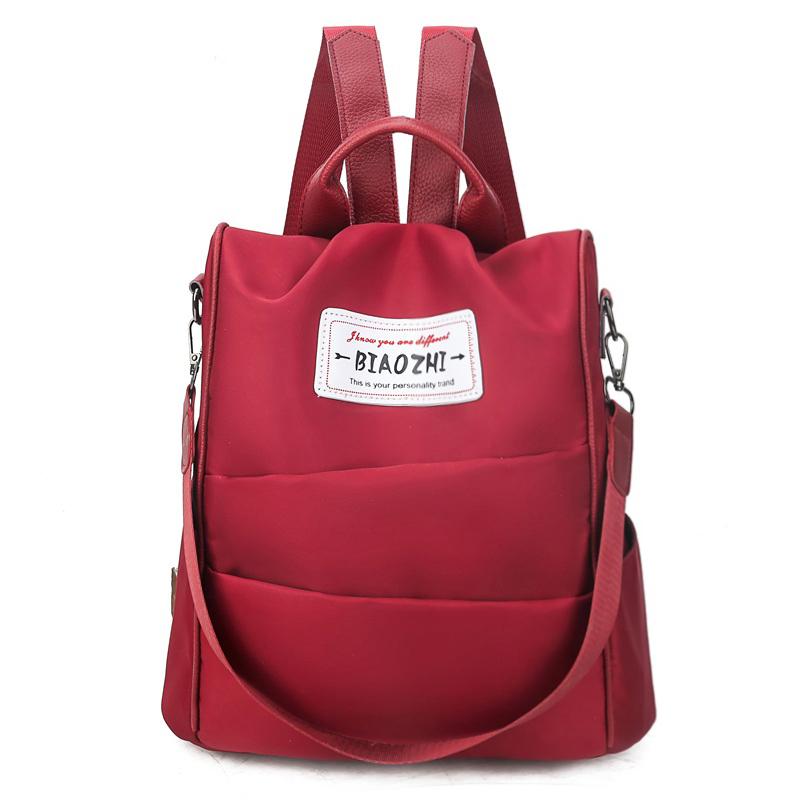 e1d990bbd 2019 Moda Anti-roubo mochila fêmea pano de oxford canvas escola mulheres  bolsa de ombro