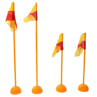 High quality PVC soccer training corner flags with turf base injection water pedestal football corner flag