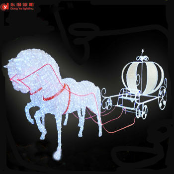 christmas decoration outdoor used abs motif led lighted horse carriage for christmas - Christmas Lighted Horse Carriage Outdoor Decoration