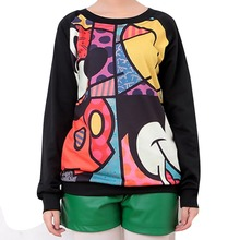 New Fashion 2015 Autumn Winter 3D printed pattern Women Sweatshirts long sleeve Tees loose female hoodies Pullovers wholesale
