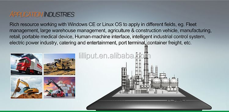 Lilliput 7 inch industrial touchscreen panel pc