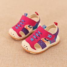 Baby Girls Boys Sandals Soft Rubber Sole Anti-slip Todder Summer Shoes For Infant 2016 Kids Leather Prewalker Shoes 22-27 Brand