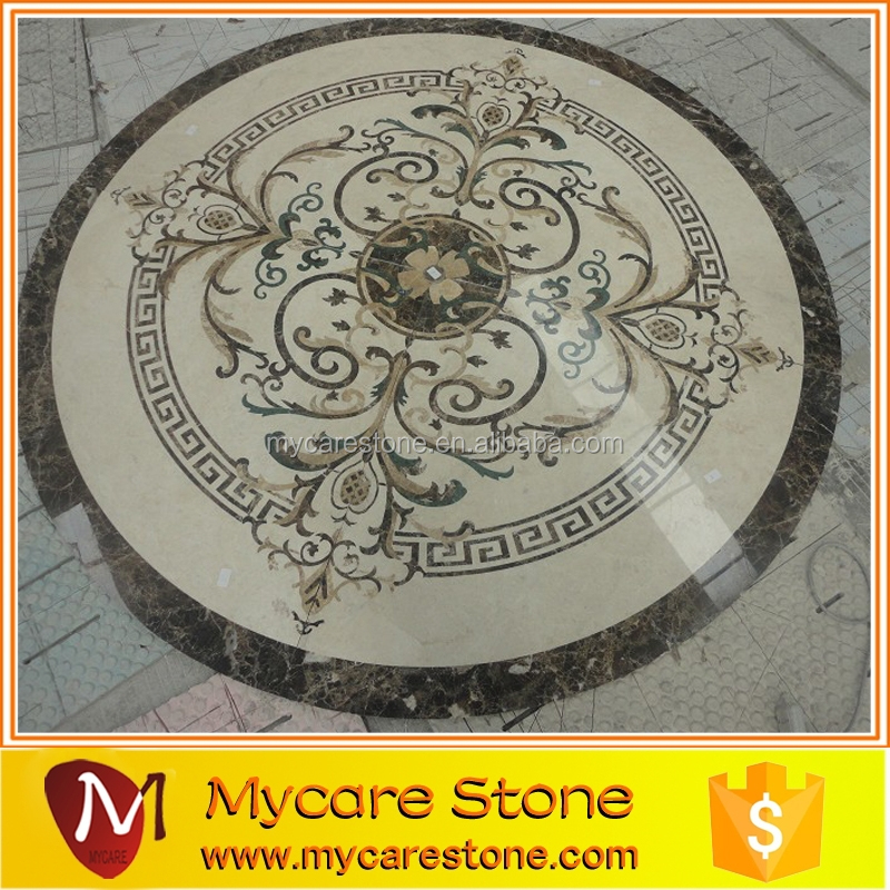 round flooring marble medallion,waterjet marble tiles design floor/lobby hall use