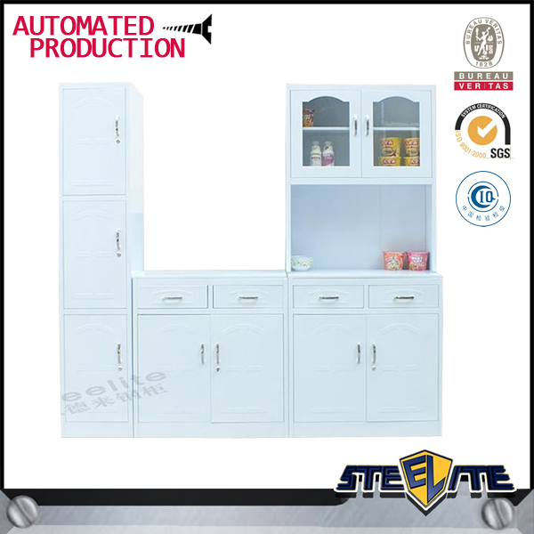 Stainless Steel Kitchen Equipment/Cheap Kitchen Cabinets/Fashion Pure Color Kitchen Cupboards