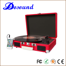 Handing breifcase record player turntable USB connect turntable stylus player