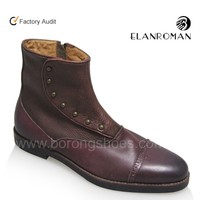Classic Men Leather boots made in genuine leather from China factory