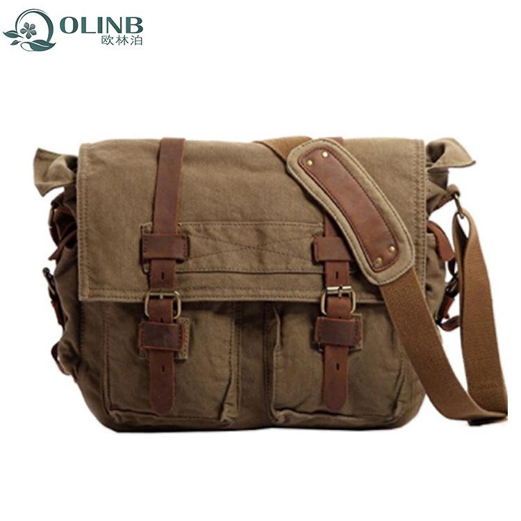 New Model Stylish Canvas Messenger Bag Mens College Student Shoulder Bags