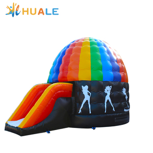Inflatable Disco Dome/dance party inflatable disco bouncy castle/disco dome bouncer with light