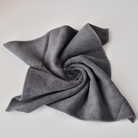 35cm*35cm All-purpose Microfiber Car Cleaning Cloths Wipes Dusting Rags Dark Grey