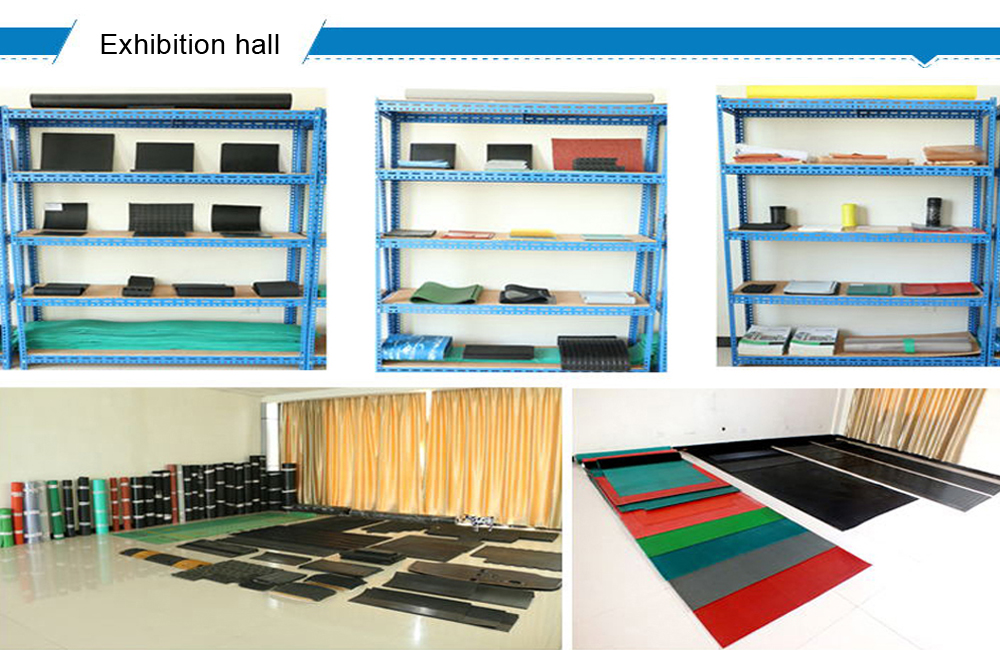 Eco-friendly coloered new rubber flooring rubber carpet