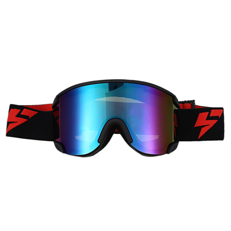 Toogoo Ski Goggles Double-Sided Cylindrical Anti-Scratch ski Glass Outdoor Anti-Fog ski Goggles(Blue)