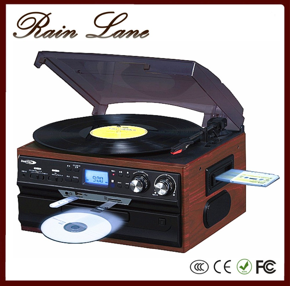 pluie voie cd lecteur platine avec 3 vitesse usb sd cassette vinyle acheter  phonographe - buy pluie voie cd lecteur vinyle acheter phonographe,platine