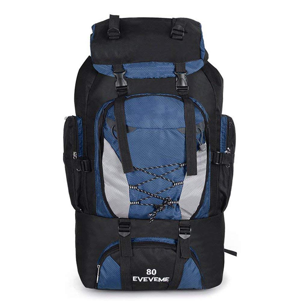Get Quotations · KEXKL Backpacks 80L Hiking Backpack Bag Outdoor Sports  Bags Travel Waterproof Shoulder Men Climbing Fishing Rucksack 068b1970dc133