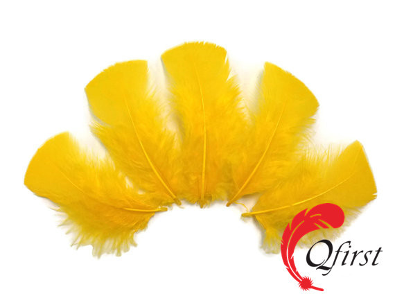 China plumage manufacturer factory wholesale bulk dyed golden yellow turkey t base body feathers