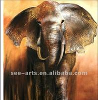 Excellent choice of wall art for decoration/ oil paintings of elephants