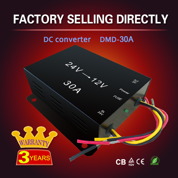 High quality 5A 10A 15A 20A 30A 40A 60A dc-dc step down 24v 12v converter 24 to 12 for Electrical modification