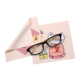Cut Design China Fashionable Custom CMYK Printing Microfiber Zig-Zag Glasses Cleaning Cloth
