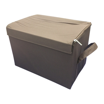 Fabric Storage Boxes Lids Fabric Boxes Storage Foldable Storage Box With  Zipper