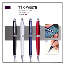 2018 New products on china market metal stylus pen with touch screen pen