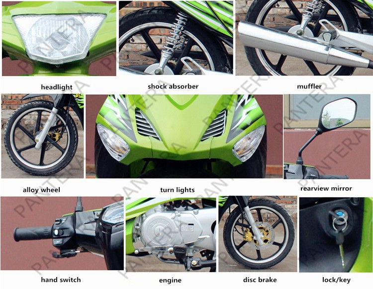 Low Price Gasoline Scooters 110cc Import Motorcycle Form China Mini Bike Sale