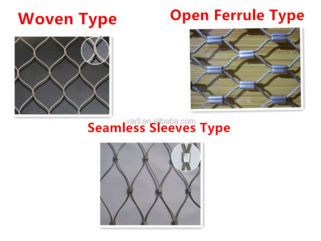 High Quality Stainless Steel Wire Rope Netting for Bridge Security Fence