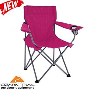 Camping Ozark Trail Folding Portable Chair Fishing Beach Outdoor Picnic Hiking
