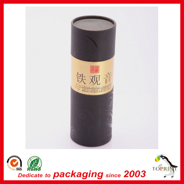 High end quality round paper tube coffee/chocolate powder box rolled edge cardboard tube wholesale manufacturer cheapest pirce