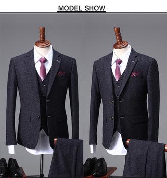2017 Latest Design Black Snow/dot Suits Wedding Dress For Men ...
