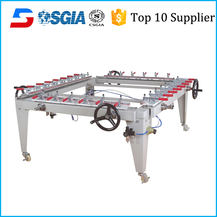 full pneumatic silk screen mesh stretching machine for screen
