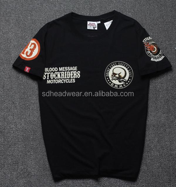 088fd7e0530b Custom print t-shirt with printing sleeves woven patch custom t-shirts no  minimum