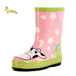 wholesale kids custom rain boots with bee 3D