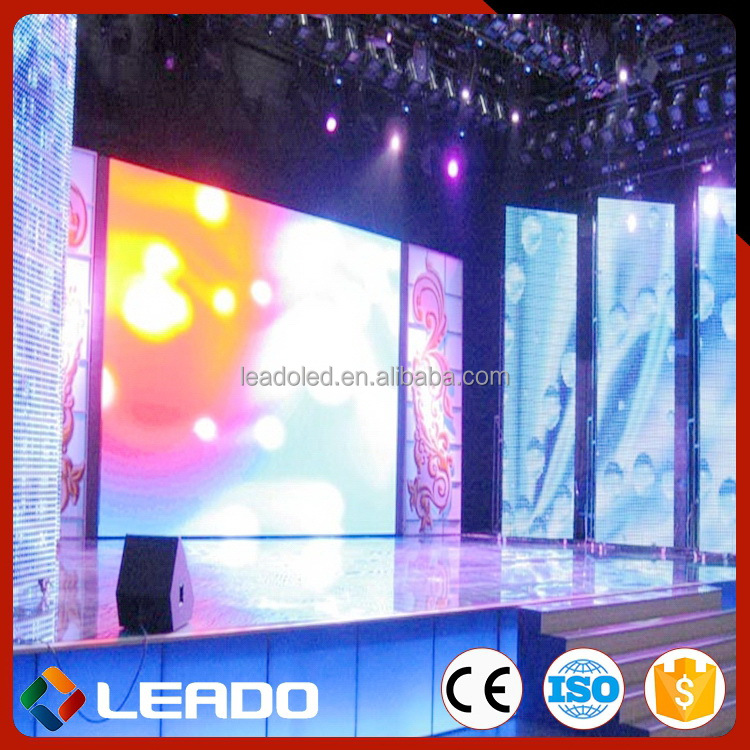 Shanghai manufacture Promotion personalized indoor rental led stage tv screen
