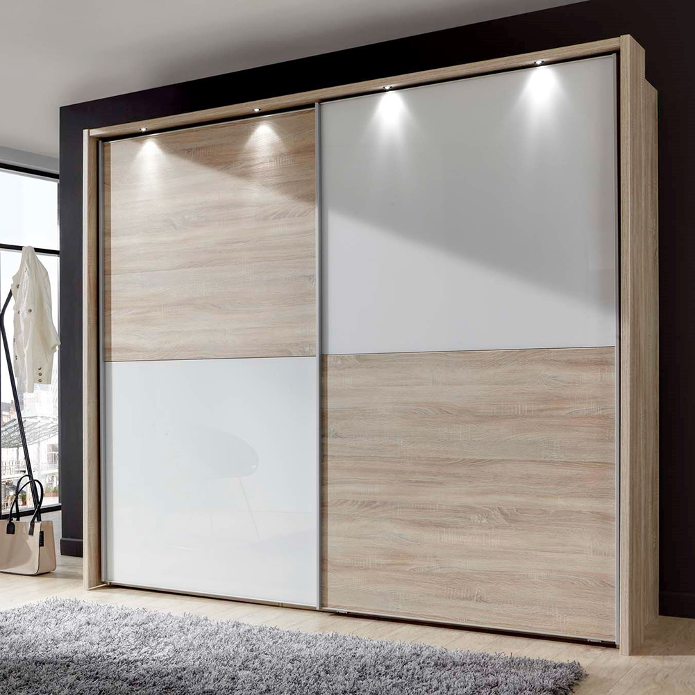 Standard Size America Wall Mounted Cheap Wooden Clothes Storage Cabinet  Sliding Door Elegant Design Bedroom Wardrobe System - Buy Cheap Clothes ...