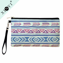 Fashion logo printed custom coin purse / hot popular pu leather strap girls cosmetic bags promotional toiletry bag