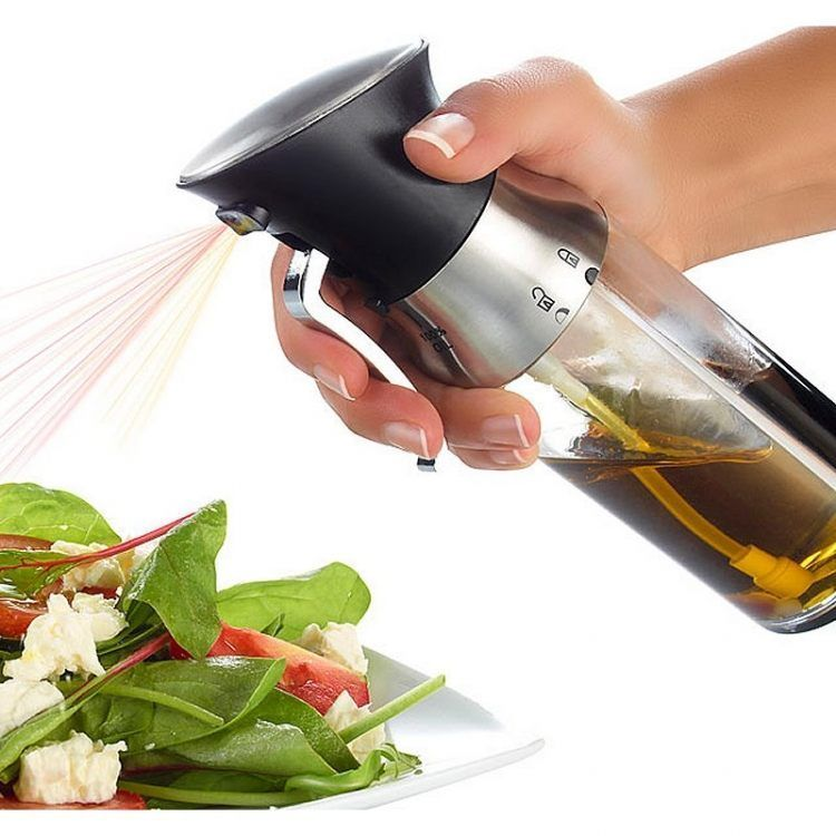 Amazon 2 in 1 olive oil sprayer for cooking Vinegar Bottle Oil Dispenser for BBQ /Cooking/ Frying/ Salad/ Baking