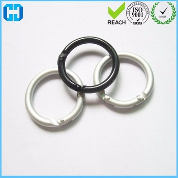Portable Mini Circle Round Carabiner Spring Snap Clip Hook Keychain