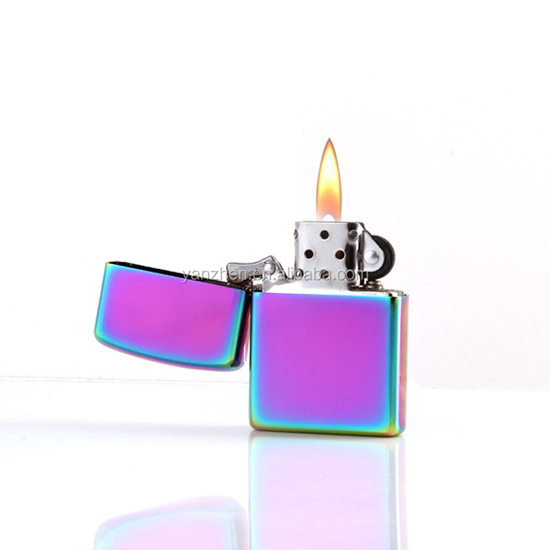 Yanzhen 101 shiny color selling small gifts essential to carry a metal windproof lighter