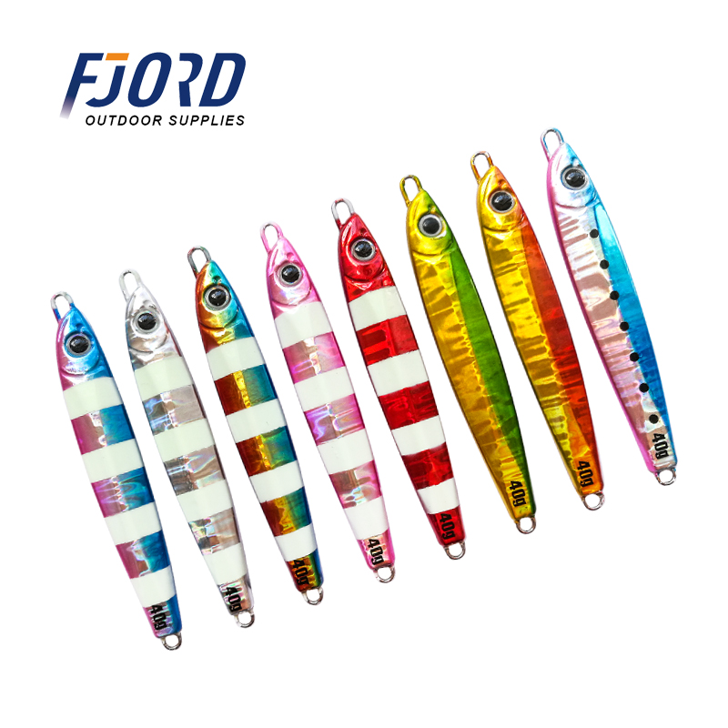 FJORD Wholesale new 20g 30g 40g 60g Metal jig Lures Bait Iron Saltwater Jigging Fishing Lure, Any color customized