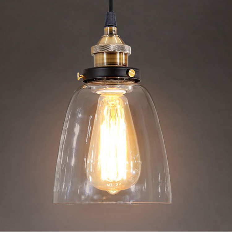 Dinner pendant clear glass cup pendant lamp for shop coffee hotel