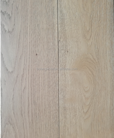 FSC European oak deep brushed with wax or UV oiled wide-plank engineered wooden flooring