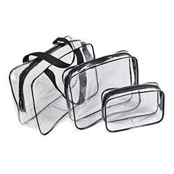 Factory direct sale large capacity multi-color transparent PVC travel makeup wash bag for unisex