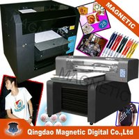 A3 6 color inkjet eco solvent black fabric printer