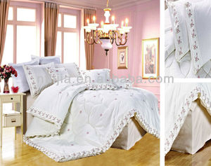 GOGO COM4 PECAS Middle Eastern style embroidery lace king weeding comforter sets middle east style wedding bedding sets